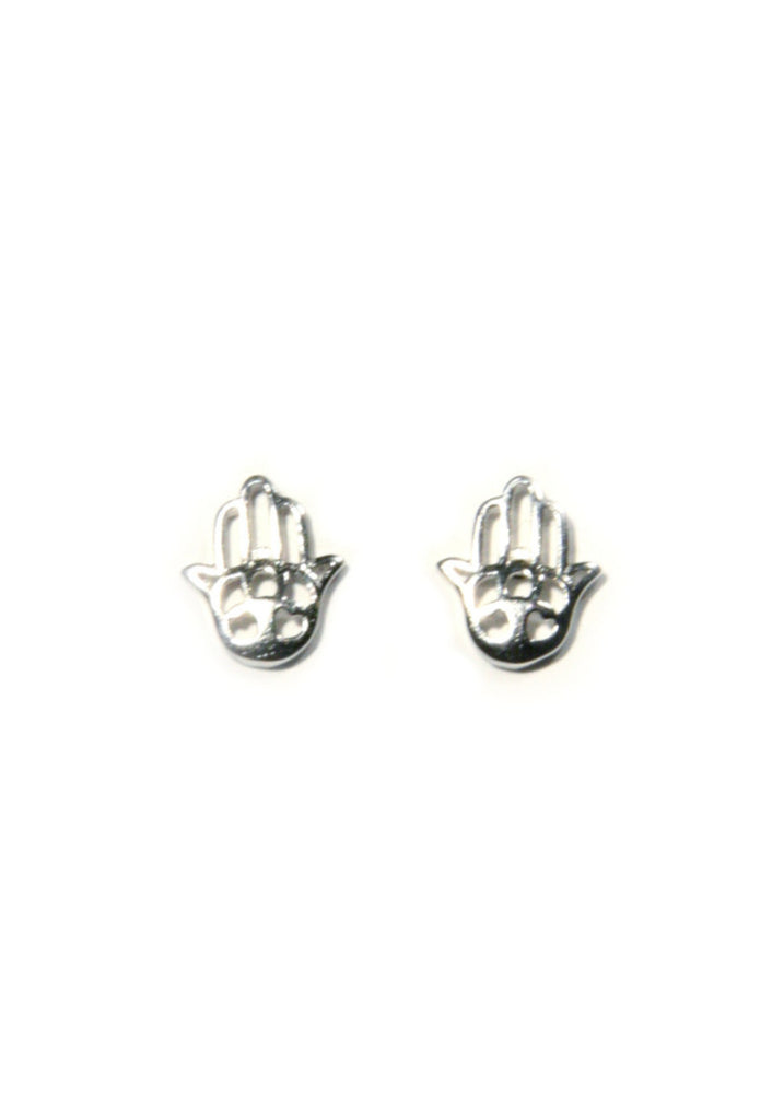 Cutout Hamsa Posts, $9 | Silver, Gold, Rose Gold | Light Years Jewelry