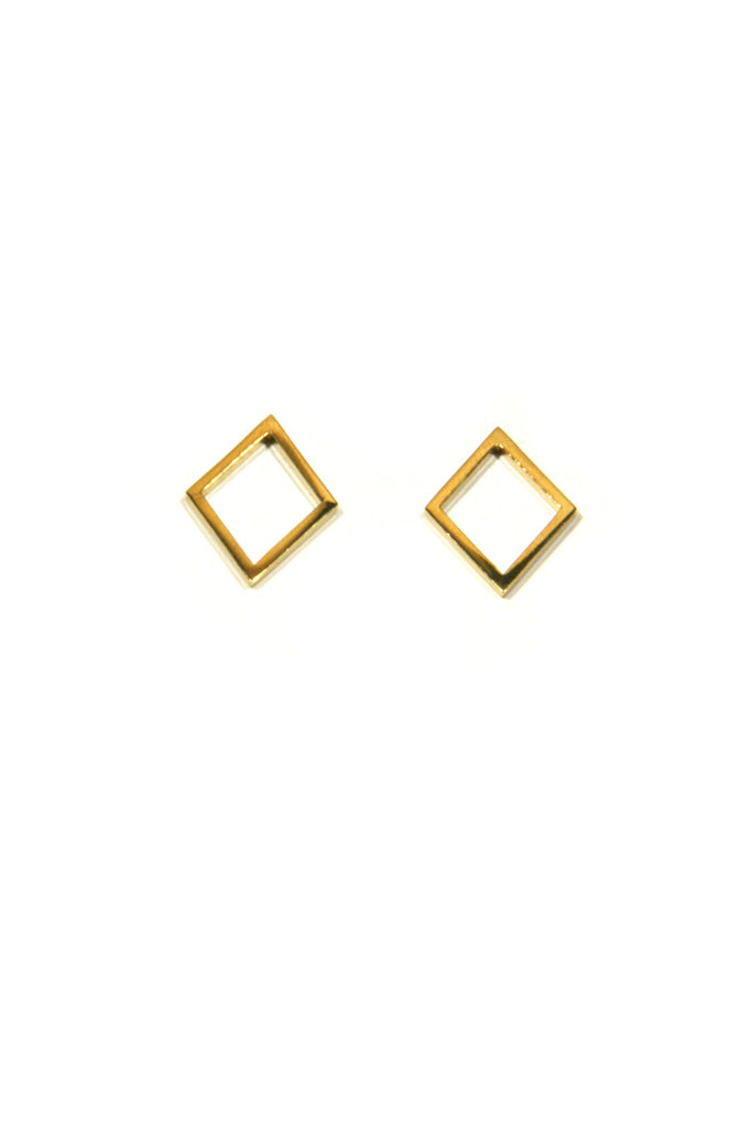 Open Diamond Posts, $12 | Gold Vermeil | Light Years Jewelry