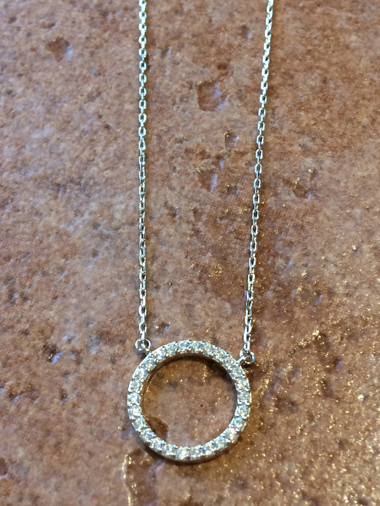 CZ Ring Necklace, $22 | Sterling Silver Gold Vermeil | Light Years