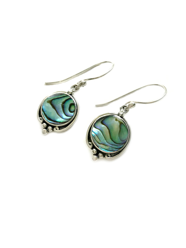 Elegant Shell Dangles | Abalone Sterling Silver Earrings | Light Years