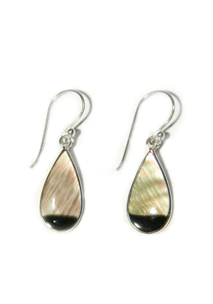 Black Mother of Pearl Dangles