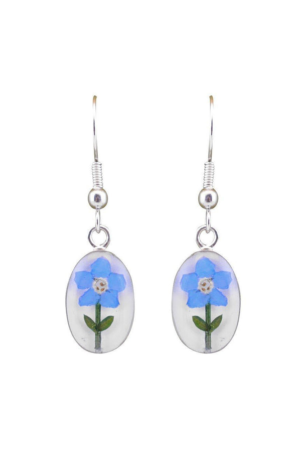 Forget Me Not Dangle Earrings, $18 | Genuine Flowers | Light Years