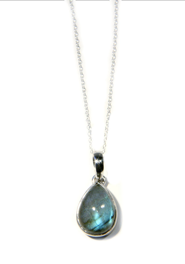 Labradorite Pendant & Chain, $36 | Sterling Silver | Light Years Jewelry