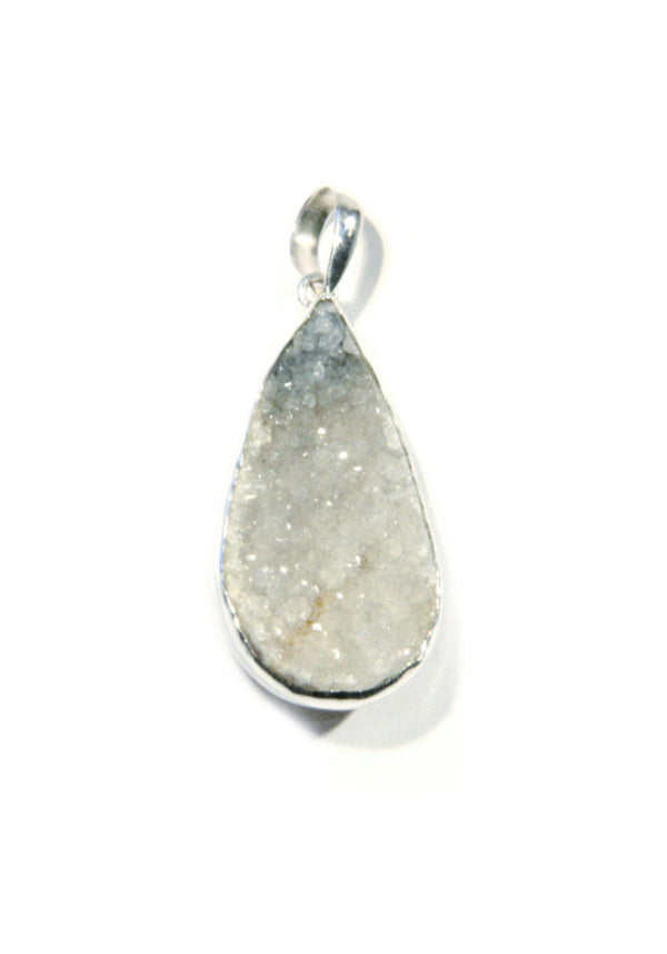 Natural Druzy Geode Pendant, $36 | Sterling Silver | Light Years Jewelry