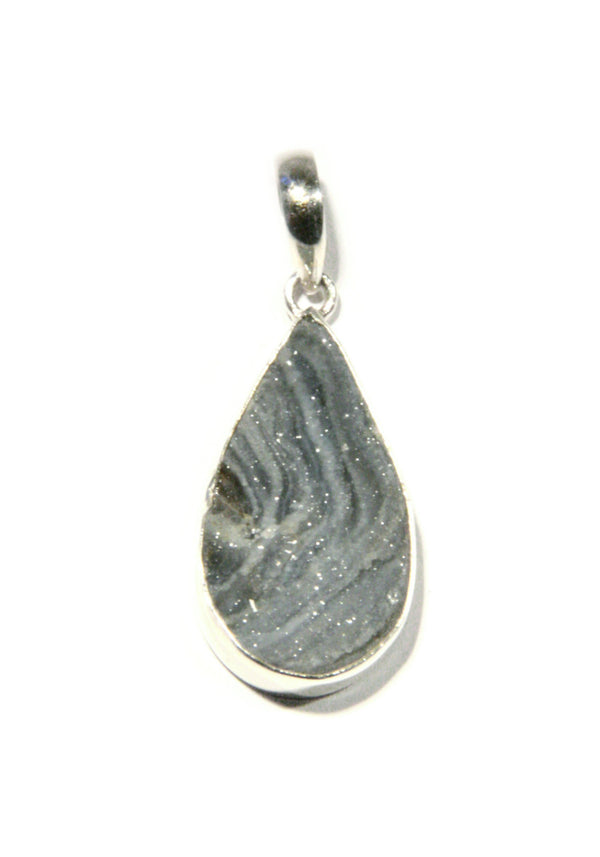 Natural Druzy Pendant, $34 | Sterling Silver | Light Years Jewelry