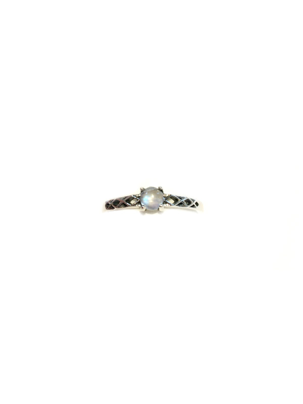 Petite Moonstone Ring | Sterling Silver Size 5 6 7 | Light Years Jewelry