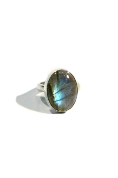 Labradorite Cabochon Ring, $34 | Sterling Silver | Light Years Jewelry