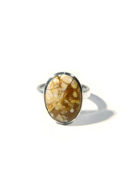 Brecciated Mookaite Ring, $34 | Sterling Silver | Light Years Jewelry