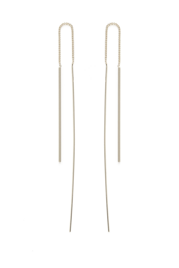 Needle & Thread Earrings | Silver or Gold Plated | Light Years Jewelry