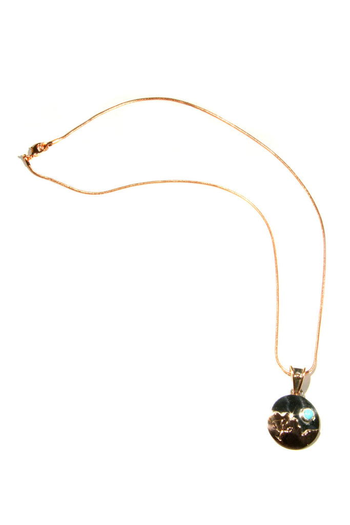 Tree & Turquoise Copper Necklace, $44 | Light Years Jewelry