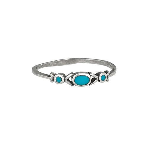 Turquoise Band Ring, $14 | Sterling Silver | Light Years Jewelry