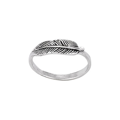 Etched Feather Ring, $12 | Sterling Silver Band | Light Years Jewelry