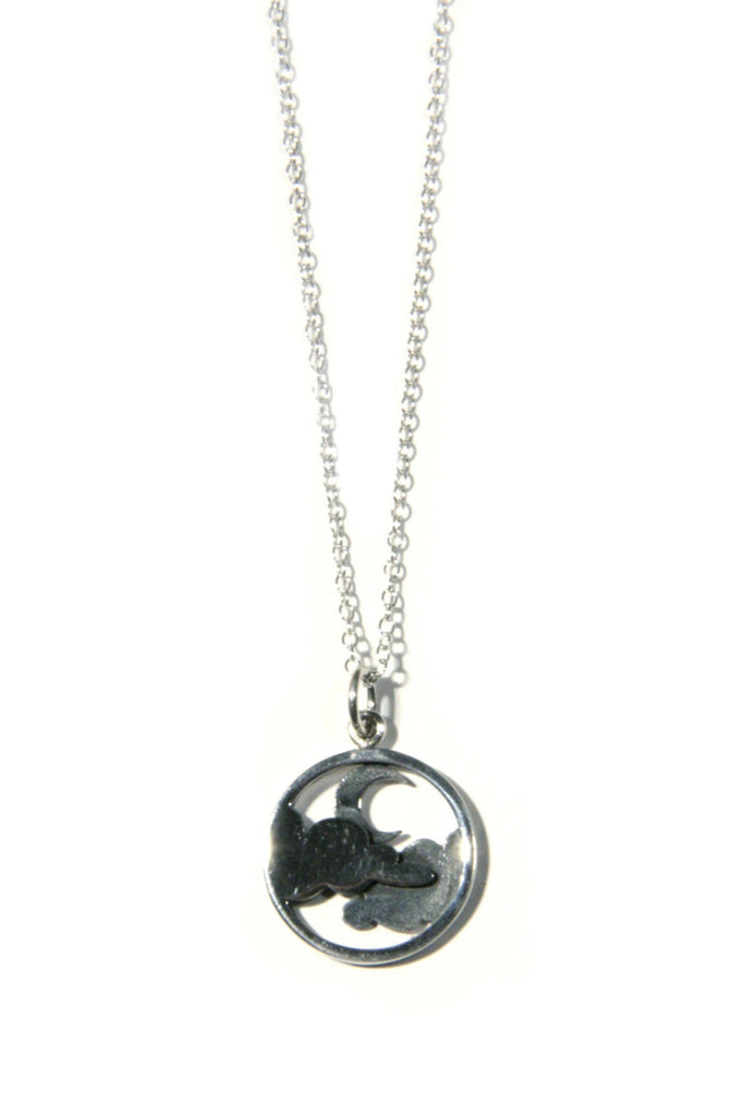 Moon and Clouds Necklace, $36 | Sterling Silver | Light Years Jewelry