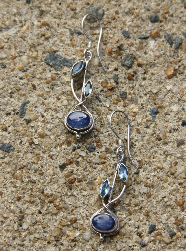 Blue Topaz & Kyanite Vine Dangles, $38 | Sterling Silver | Light Years