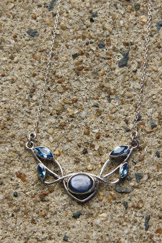 Blue Topaz Vine Necklace, $66 | Sterling Silver | Light Years Jewelry