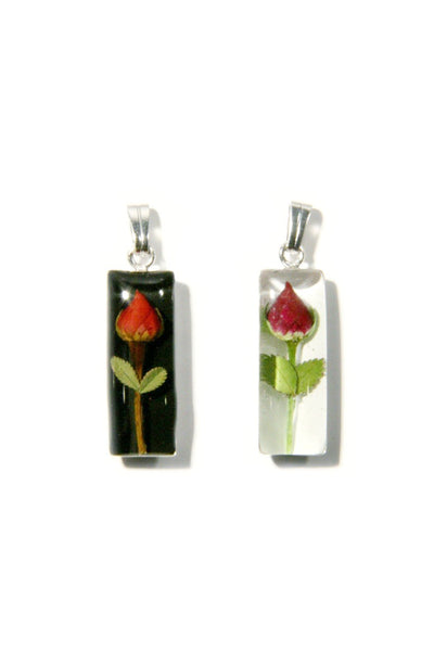 Rosebud Necklace | Real Miniature Flowers | Light Years Jewelry