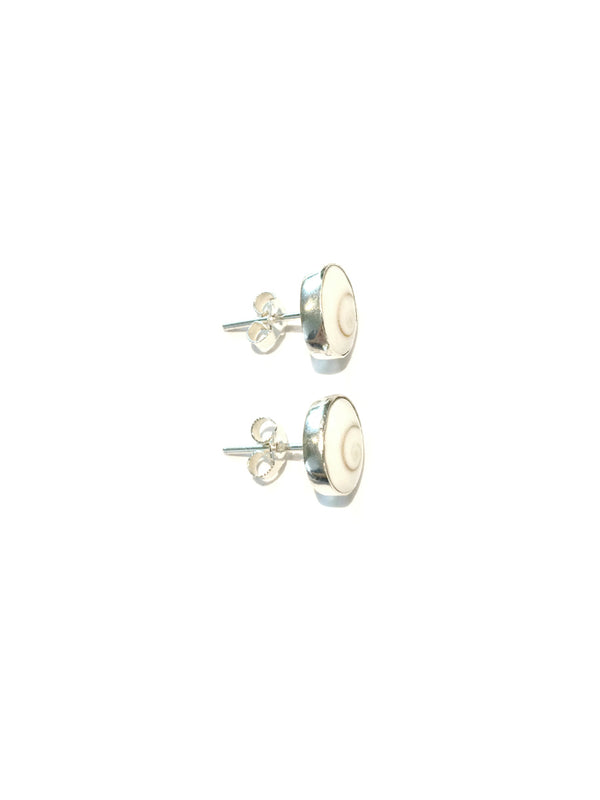 Shiva's Eye Shell Posts | Sterling Silver Stud Earrings | Light Years