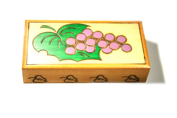 Wood Grape Trinket Box, $16 | Handmade in Poland | Light Years Jewelry