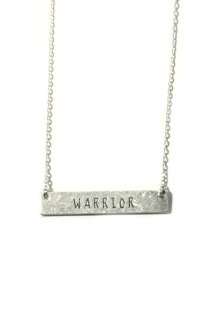 Stamped Inspiration Necklace, $10 | Warrior | Light Years Jewelry