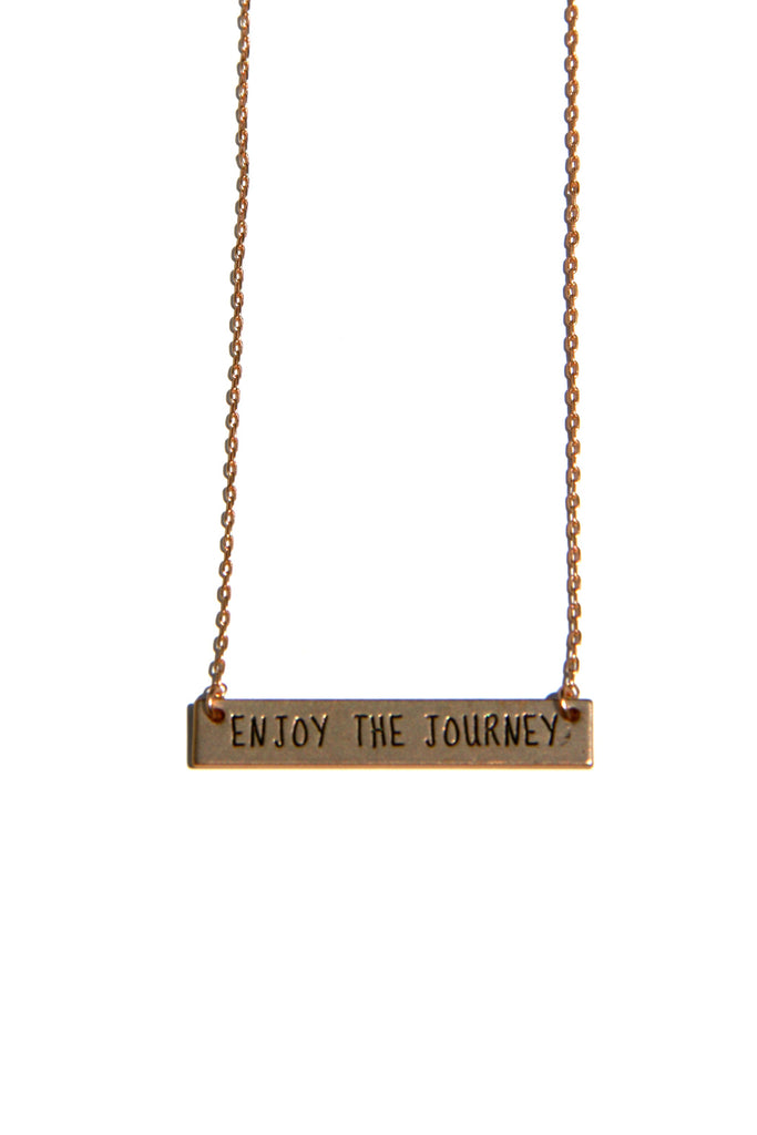 Stamped Inspiration Necklace, $10 | Enjoy the Journey | Light Years Jewelry