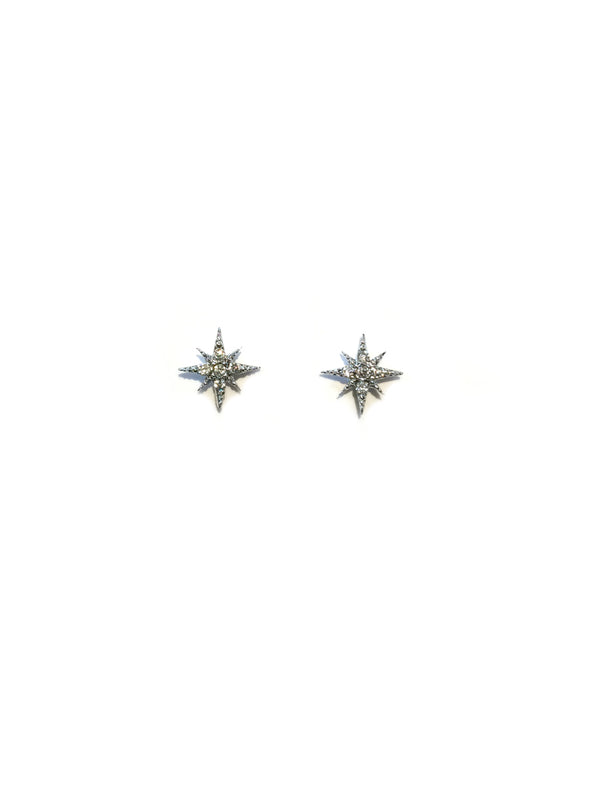 Starburst Posts | Silver Gold Rose Gold Studs Earrings | Light Years
