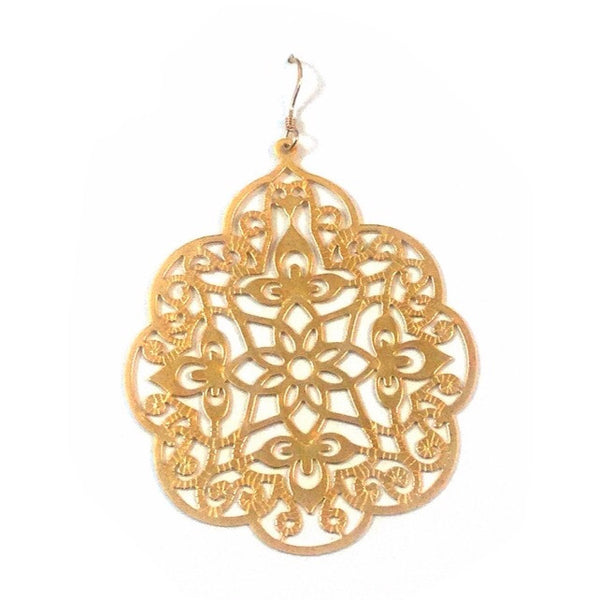 Moroccan Gold Filigree Earrings, $18 | 14kt Gold | Light Years Jewelry