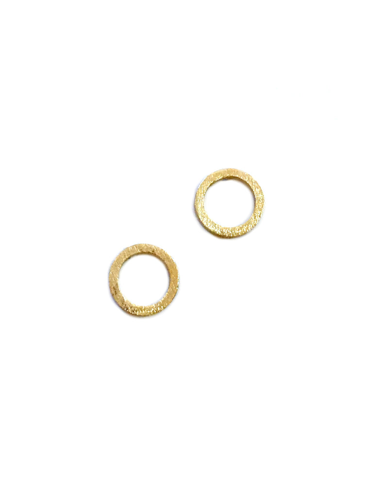 Brushed Ring Posts | Gold Sterling Silver Studs Earrings | Light Years