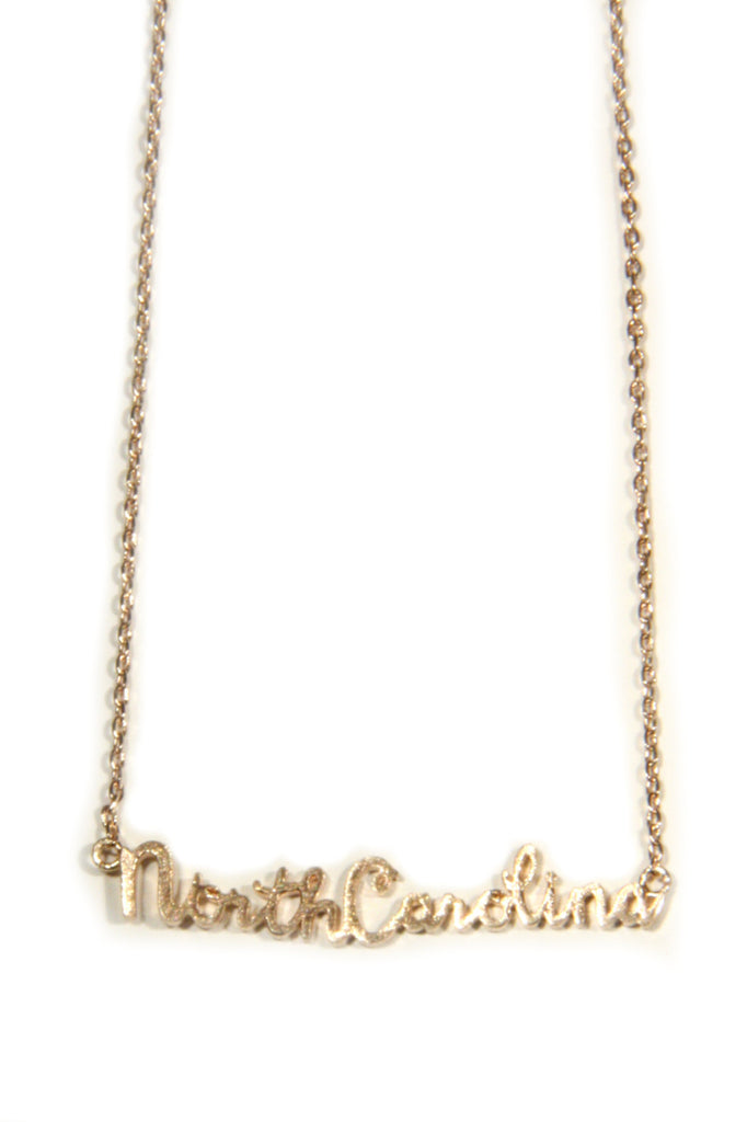 North Carolina Script Necklace