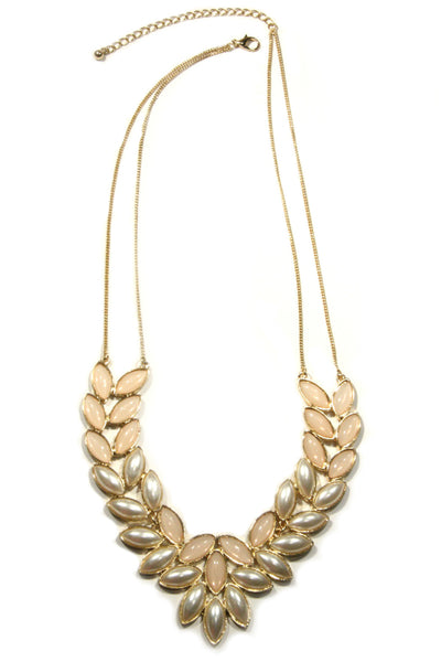 Peach & Pearl Statement Necklace, $15 | Light Years Jewelry