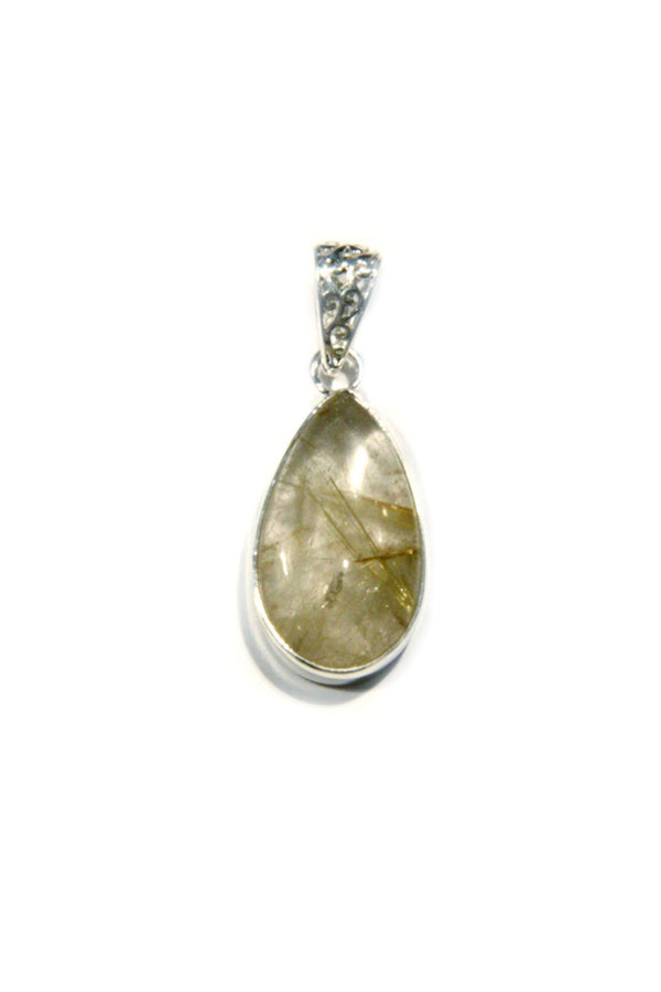 Rutilated Quartz Pendant, $26 | Sterling Silver | Light Years Jewelry