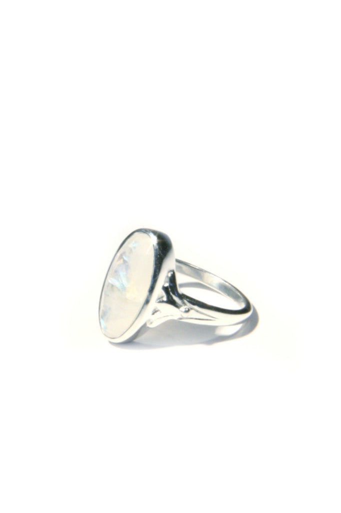 Faceted Rainbow Moonstone Ring, $27 | Sterling Silver | Light Years