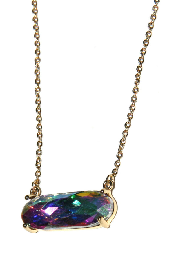 Rainbow Crystal Necklace, $9 | Gold Fashion | Light Years Jewelry