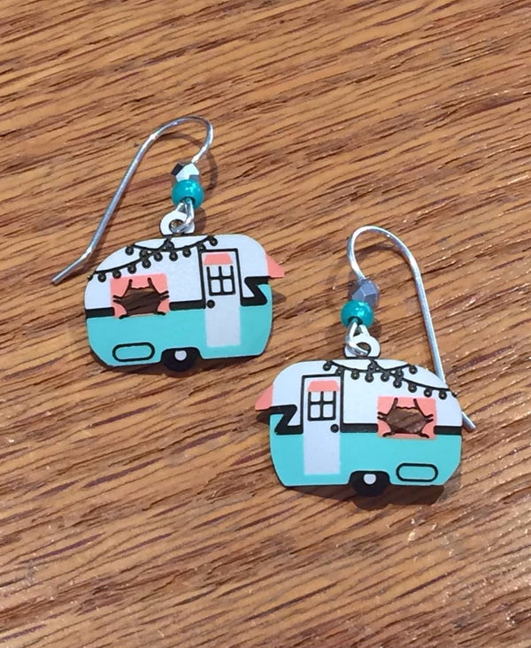 Vintage Camper Dangle Earrings by Sienna Sky, $16 | Light Years Jewelry