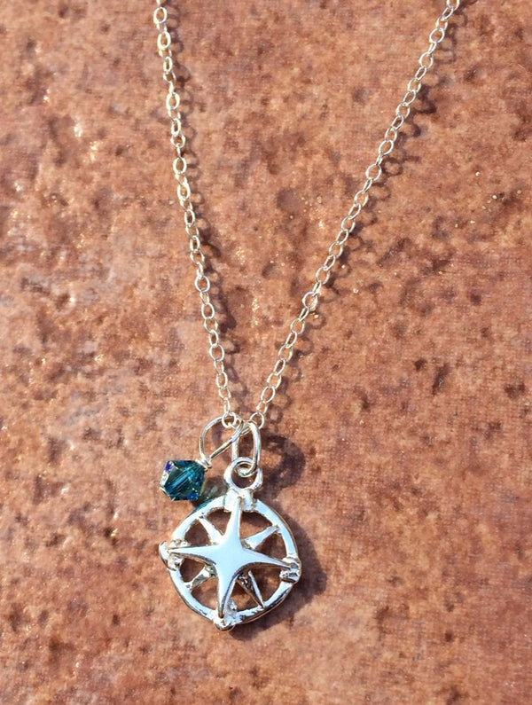 Starburst Compass Necklace, $26 | Sterling Silver | Light Years Jewelry