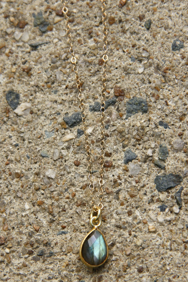 Labradorite Teardrop Necklace, $32 | Gold Filled | Light Years Jewelry