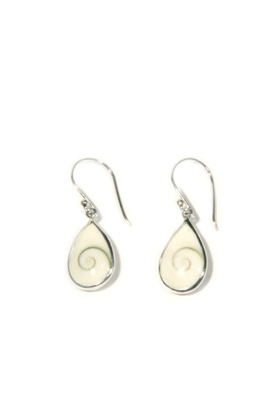 Shiva Eye Dangles, $16 | Sterling Silver Shell Earrings | Light Years
