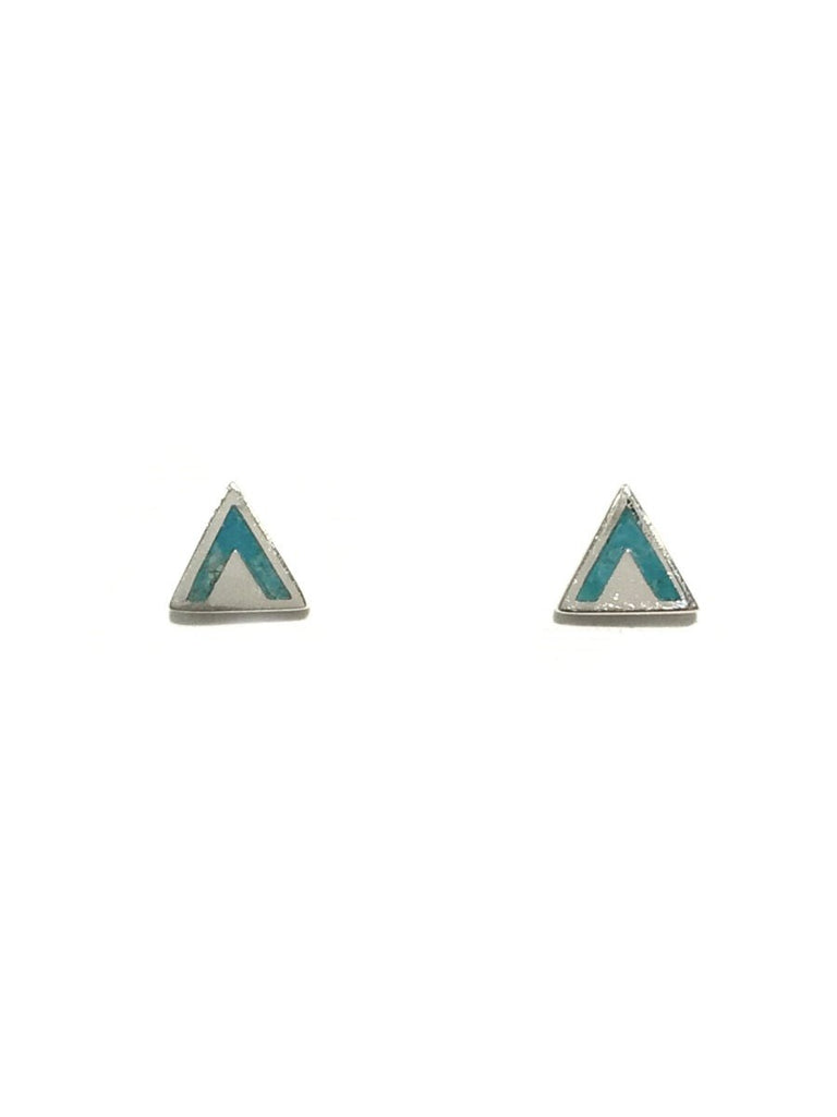 Turquoise Triangle Posts | Sterling Silver Stud Earrings | Light Years