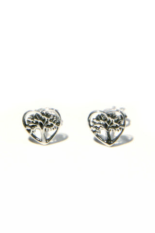 Heart Tree Posts, $10 | Sterling Silver Studs | Light Years Jewelry
