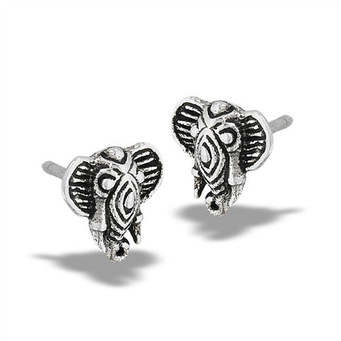 Detailed Elephant Posts, $10 | Sterling Silver Earrings | Light Years