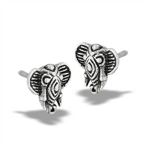 Detailed Elephant Posts | Sterling Silver Studs Earrings | Light Years