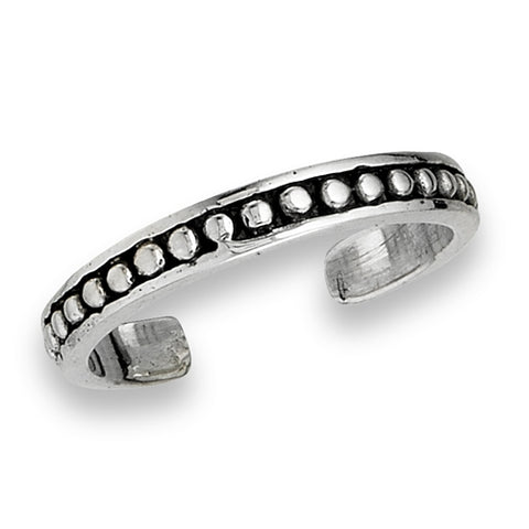 Dot Band Toe Ring, $8.50 | Sterling Silver | Light Years Jewelry