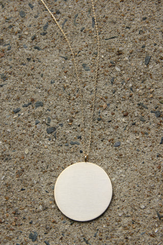 Brushed Gold Disc Necklace, $12 | Gold Plated | Light Years Jewelry