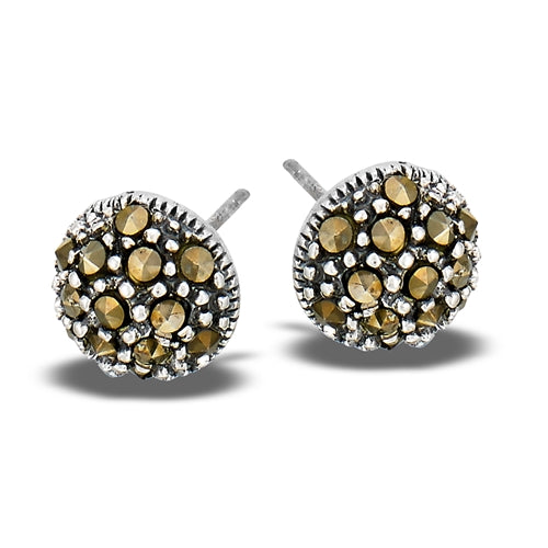 Marcasite Dome Posts | Sterling Silver Studs Earrings | Light Years