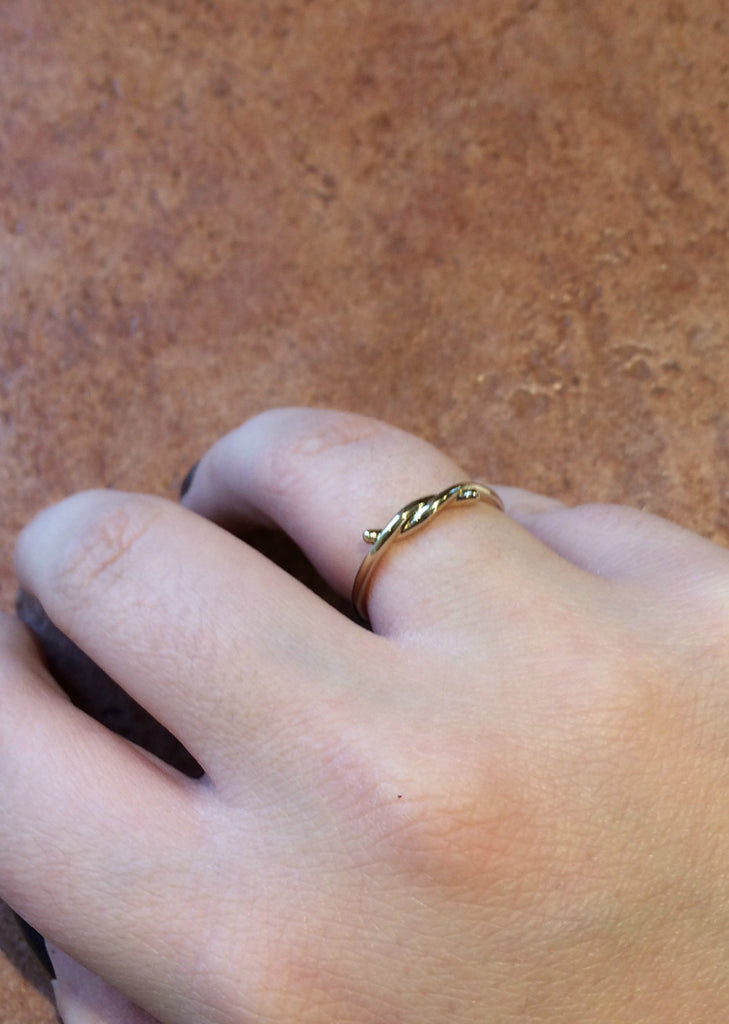Twisted Gold Ring, $8 | Size 7.5 Gold Plated | Light Years Jewelry
