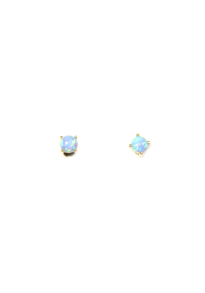 Elegant Blue Opal Posts | Rose Gold Vermeil | Light Years Jewelry