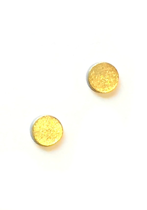 Brushed Circle Posts, $9 | Sterling Silver Gold Vermeil | Light Years
