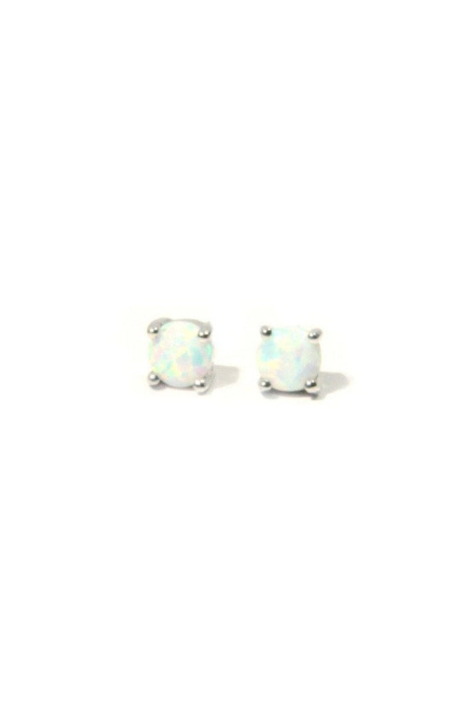 Elegant White Opal Posts | Sterling Silver Vermeil Studs | Light Years