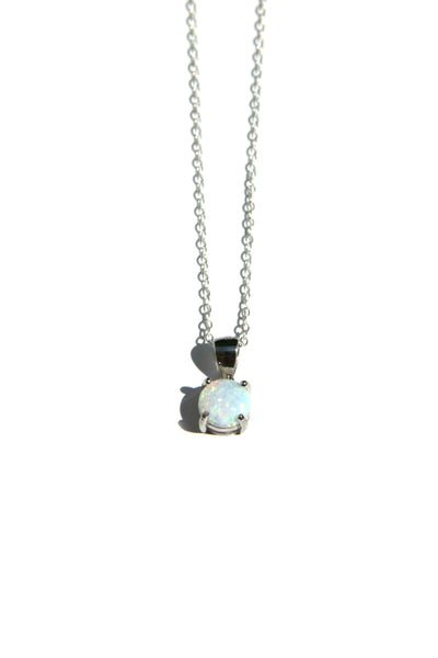 Elegant White Opal Necklace, $22 | Sterling Silver | Light Years Jewelry