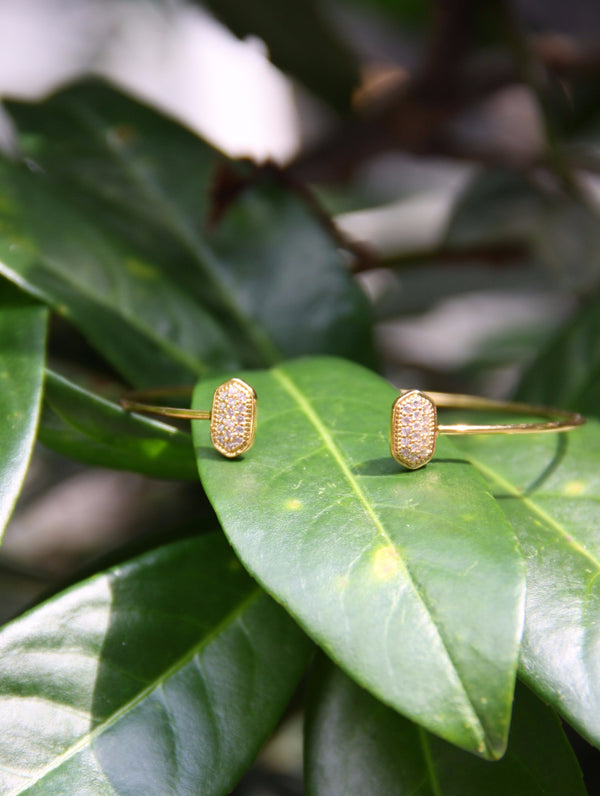 Pave Studded Bangle, $11 | Gold Plated with CZ | Light Years Jewelry