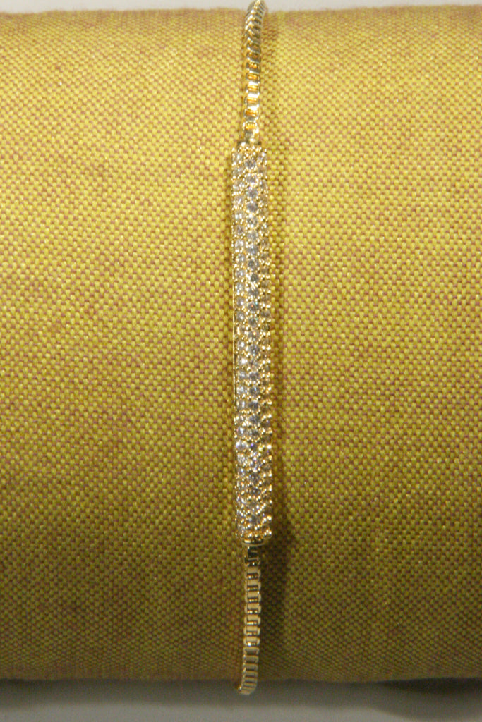 Gold & CZ Pave Pull Bracelet, $17 | Gold Plated | Light Years Jewelry